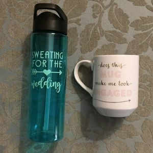 Other - Engaged water bottle and mug for the bride to be